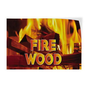 Fire Wood 1 Indoor Store Sign Vinyl Decal Sticker