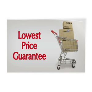 Lowest Price Guarantee Indoor Store Sign Vinyl Decal Sticker