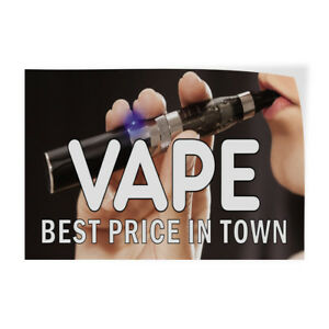 Vape Best Price In Town Indoor Store Sign Vinyl Decal Sticker