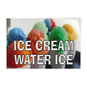 Ice Cream Water Ice 1 Indoor Store Sign Vinyl Decal Sticker