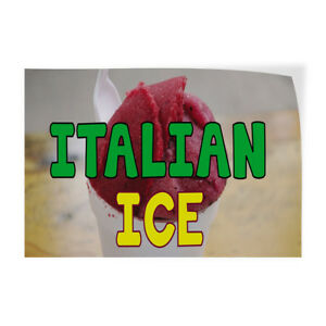 Italian Ice 1 Indoor Store Sign Vinyl Decal Sticker