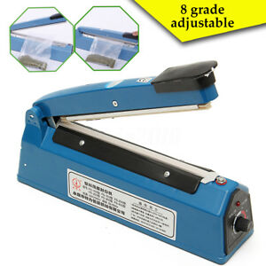 Electric Plastic Poly Bag Sealing Machine Impulse Heat Sealer 200mm 220v Us Ship