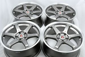 18 Gunmetal Wheels Rims Accord Camry Tl Mdx Fusion Sienna Civic Eclipse 5x114 3