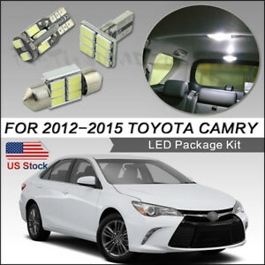 14pcs Led Interior Lights White For 2012 2015 Toyota Camry Package Kit