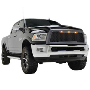 2010 2012 Dodge Ram 2500 3500 Grille With Amber Led Light Shell Abs Raptor Style