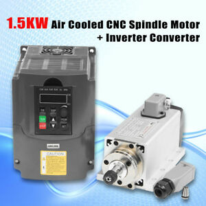 1 5kw 1500w Air Cooled Cnc Spindle Motor 1pc Er11 Collet Inverter Converter