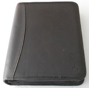 Franklin Covey Full Grain Nappa Brown Leather Classic Planner Inc Inserts 7 Ring