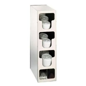 Dispense rite Tlo 3ss Countertop Vertical Lid And Straw Organizer