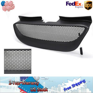 Black Front Hood Bumper Mesh Grill Grille Resin For Hyundai Genesis Coupe 08 12