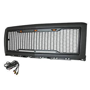 14 15 Chevy Silverado1500 Mesh Grille Charcoal Gray Abs Front Hood Raptor Style