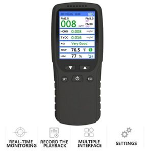 Multifunction Air Quality Tester Home Hcho Tvoc Pm2 5 Pm10 Formaldehyde Detector