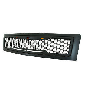 2007 2013 Chevy Silverado1500 Grille Raptor Style With Led Lights Matte Black