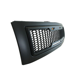 07 13 Chevy Silverado1500 Grille Raptor Style Matte Black Abs W Led Lights