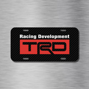 Trd Racing Development Carbon Jdm Drift Vehicle License Plate Front Auto Tag New