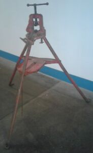 Vintage Reed Pipe Vise With Tripod