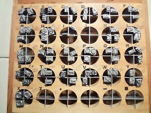 Kingsley Stamping Machine Type Greek Letters 72 Pieces