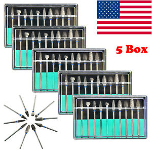 5 Box kit Tungsten Steel Dental Burs Lab Burs Tooth Drill Fit Handpiece Polisher