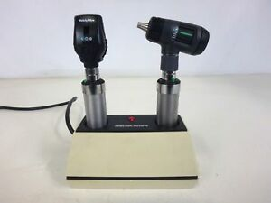 Welch Allyn Diagnostic Set Otoscope Ophthalmoscope With Handles Charger Head