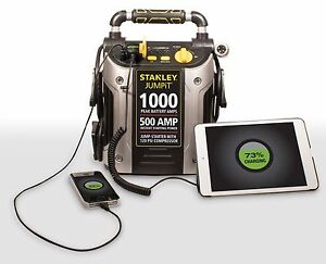 Battery Jump Box With Air Compressor Car Starter Portable Auto Emergency Charger