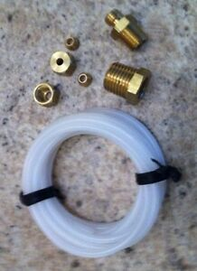 Nos Mechanical Oil Pressure Gauge Installation Kit With Fittings 72 Tubing