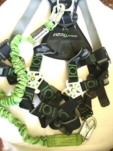 Miller Revolution Safety Fall Protection Harness With Accesories