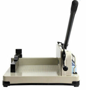 Heavy Duty 858 A4 Size Stack Paper Cutter Metal Ream Guillotine Brand New