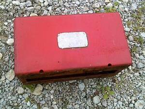 Farmall Ih Sc Tractor Tool Box Seat Base Tag