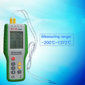 Digital Lcd K Type Thermometer Meter W 4pcs Thermocouple Probes 200 c 1372