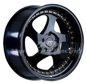 17x8 5x108 Jnc 034 Gloss Black Made For Ford Volvo