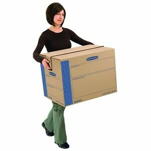 Boxes For Moving Cardboard Storage Box Set Large Home Office Shipping Kit 6 Pack