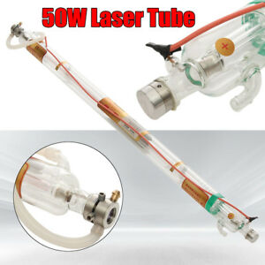 50w 1000mm Laser Tube Metal Head Glass Pipe For Co2 Engraving Cutting Machine