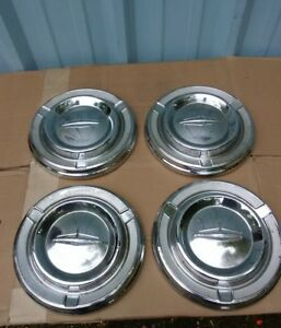 4 Four Early 60 S Oldsmobile Dog Dish Hub Caps