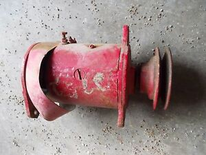 Farmall Ih H Hv Sh M Mv Sm Tractor 6v Generator Good Belt Drive Front Pulley