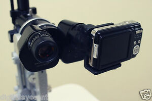 New Slit Lamp Eyepiece Digital Adapter For Compact Camera W Sleeves And Camera
