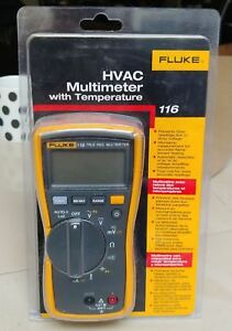 Fluke 116 Hvac Multimeter With Temperature And Microamps New