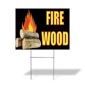 Fire Wood 2 Outdoor Lawn Decoration Corrugated Plastic Yard Sign