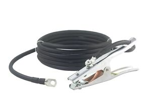 500 Amp Ground Clamp Welding Lead Terminal Lug Connector 2 0 Awg Cable 100 Feet