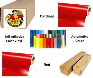 24 X 55yd 6yr Outdoor Sign Vinyl Film Craft Hobby Roll Sheet Cardinal Red