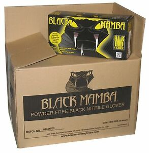Black Mamba Glove Nitrile Disposable Hvac Utility Heavy Duty Mechanic Thick Pf