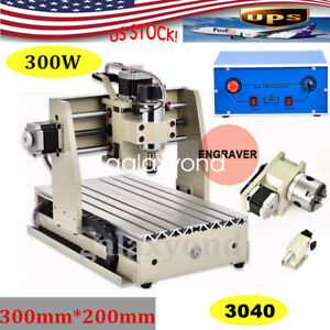 Portable Cnc Router 4 Axis Engraver 300w Engraving drilling milling Machine 3020