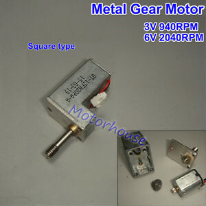Dc 3v Small Full Metal Gearbox Gear Motor Square Speed Reducer For Diy Car Robot