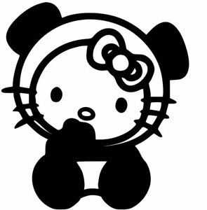 Hello Kitty Panda Vinyl Decal Sticker For Cars Windows Laptops And More