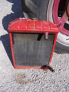 Ford Massey Harris Ferguson Tractor Original Radiator Assembly Worked On Tractor