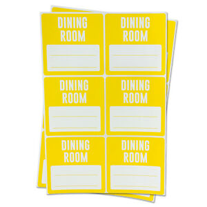 Dining Room Labels With Blank Memo Note Home Moving Box Write Stickers 10 Roll