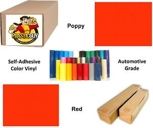 15 X 55yd Poppy Red Oracal 651 Graphic Sign Cut Vinyl private Label