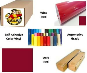 Cherry Red Self adhesive Sign Vinyl 15 X 165 Ft Or 55 Yd 1 Roll