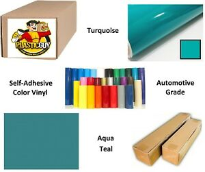 24 X 55yd 6yr Outdoor Sign Vinyl Film Craft Hobby Roll Sheet Turquoise Blue