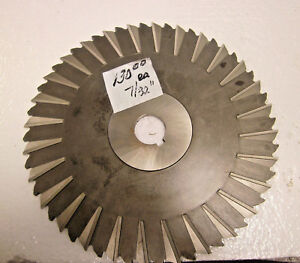3 Hss Slitting Saws Staggered Tooth 10 Dia X 7 32 X 1 1 4 I d Unbranded