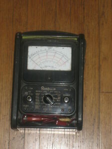 Simpson Model 260 Overload Protection Black Analog Multimeter Vintage Meter