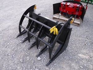 Bobcat Mt Mini Skid Steer Attachment 54 Root Rake Grapple Bucket Free Ship